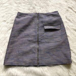 Halogen Blue Patterned Skirt